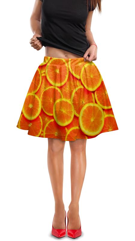 Юбка в складку Printio Апельсин юбка в складку printio химия