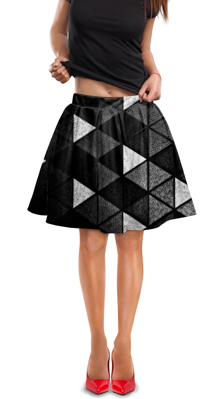 Юбка в складку Printio Черно-белые фигуры юбка в складку printio черно белые узоры