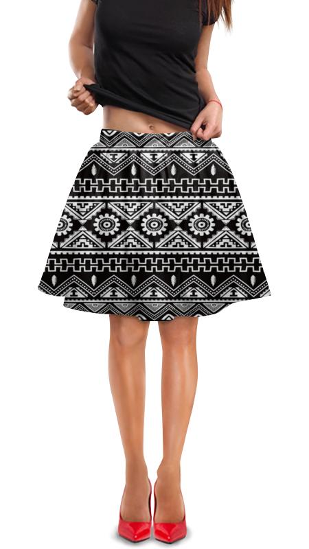 Юбка в складку Printio Черно-белая графика юбка белая ido ут 00015983