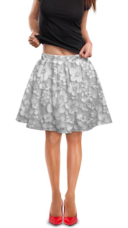 Юбка в складку Printio Узоры юбка в складку printio черно белые узоры
