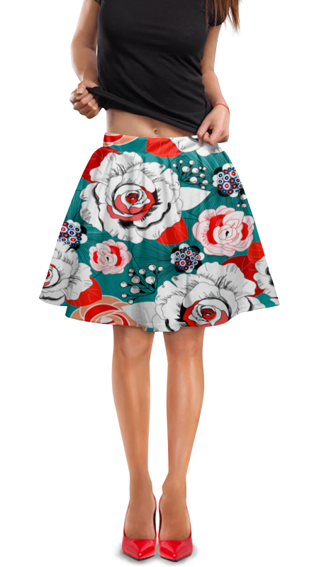 Юбка в складку Printio Fashion flower юбка flower lolita b110