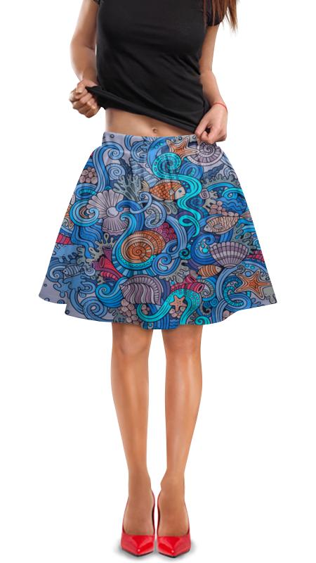 Юбка в складку Printio Морской юбка в складку printio собачки