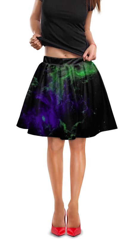 Юбка в складку Printio Космос юбка в складку printio многоцветный