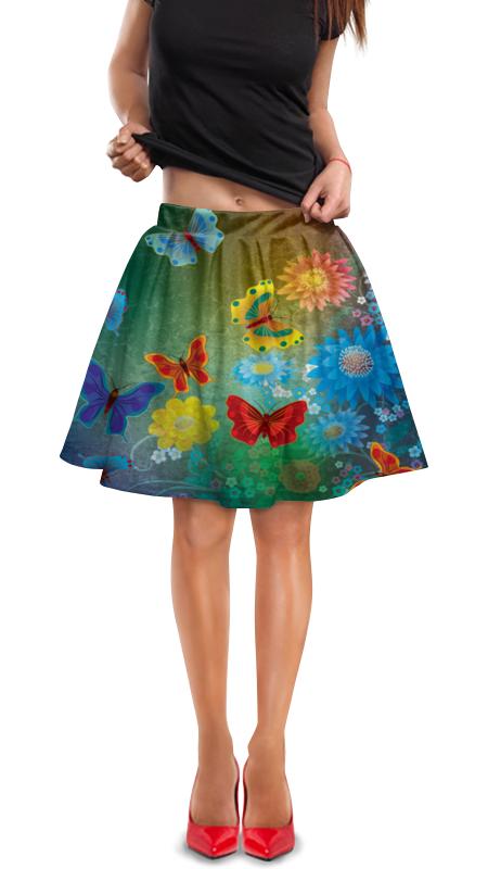 Юбка в складку Printio Бабочки юбка в складку printio химия