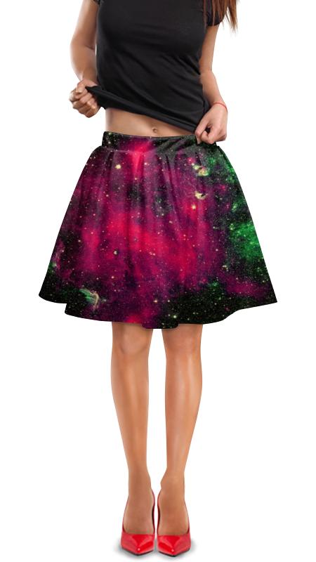 Юбка в складку Printio Галактика юбка в складку printio собачки