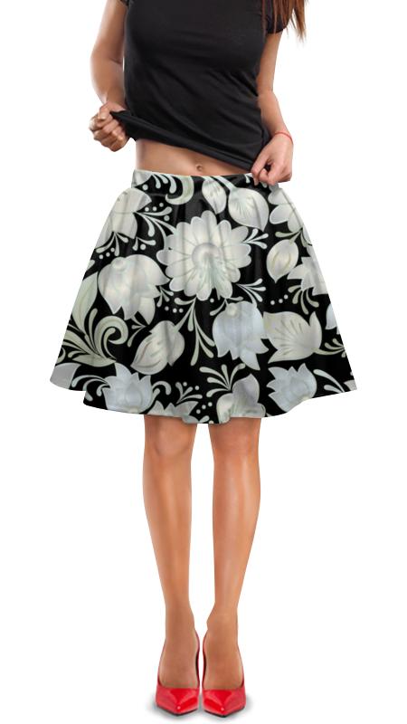 Юбка в складку Printio Цветы юбка в складку printio химия