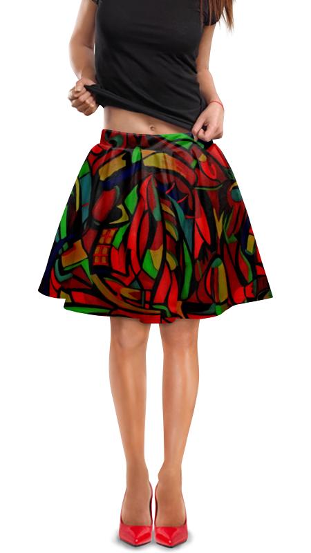 Юбка в складку Printio Картина юбка в складку printio молния
