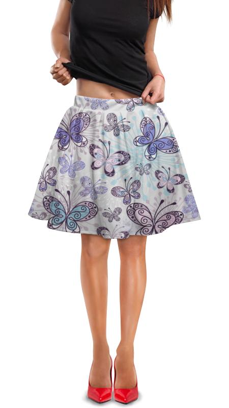 Юбка в складку Printio Бабочки юбка в складку printio леопардовый