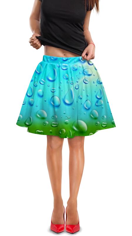 Юбка в складку Printio Капли юбка в складку printio химия