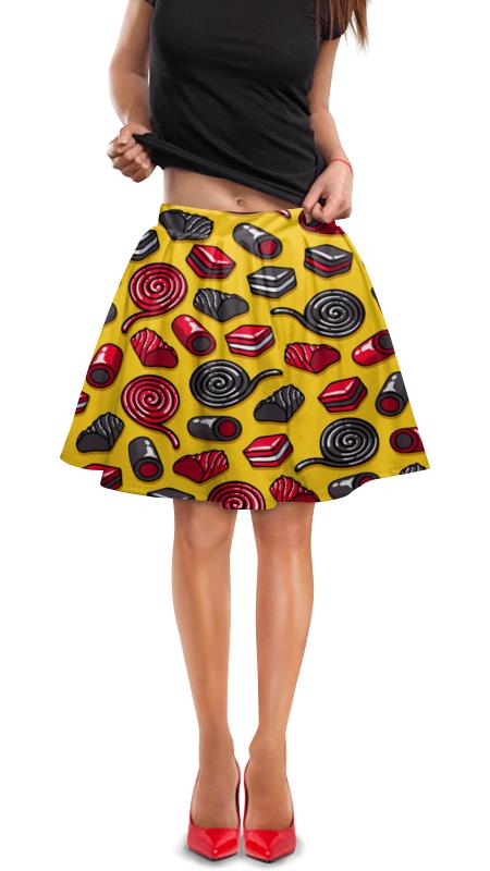 Юбка в складку Printio Конфетки юбка в складку printio модная