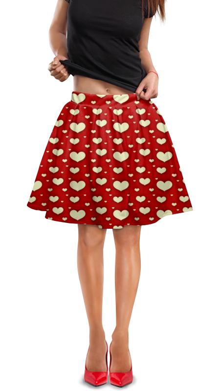 Юбка в складку Printio Сердце юбка в складку printio мелкий горошек