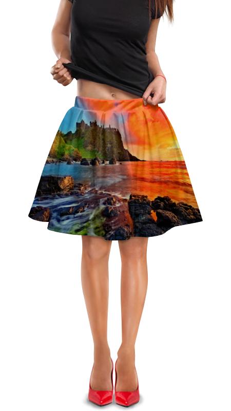 Юбка в складку Printio Закат юбка в складку printio многоцветный