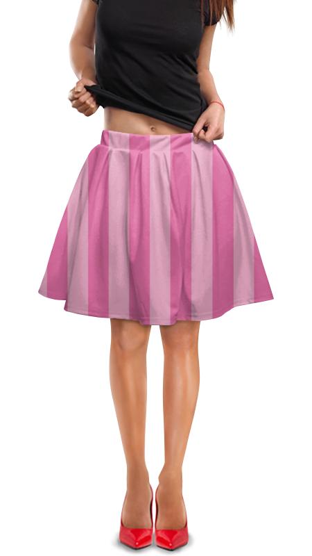 Юбка в складку Printio Розовая полоска.