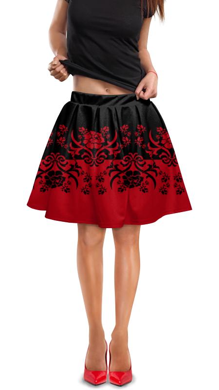 Юбка в складку Printio Красно-черный кружевной красно черный комплект 42 44