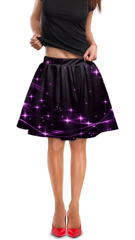 Юбка в складку Printio Блеск звезд дубини мириам танец падающих звезд
