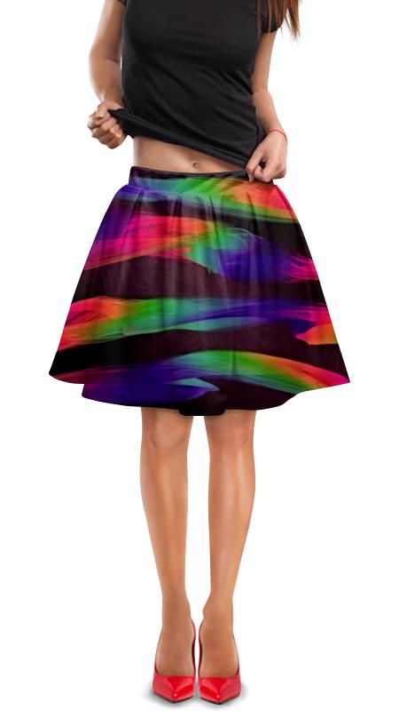 Юбка в складку Printio Краски юбка в складку printio собачки