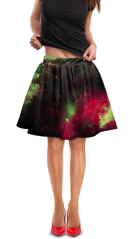 Юбка в складку Printio Космос юбка в складку printio любимая юбка