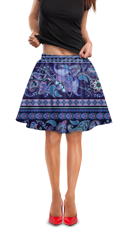 Юбка в складку Printio Орнамент юбка в складку printio леопардовый