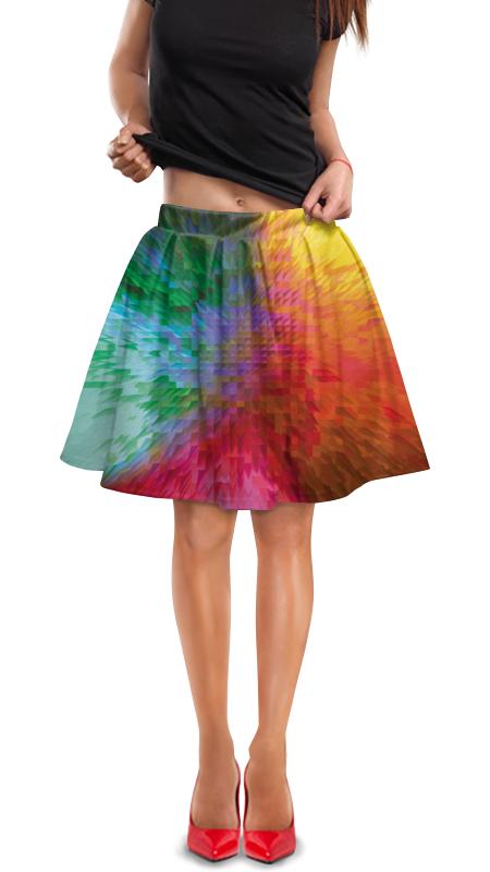 Юбка в складку Printio Радужная абстракция юбка в складку printio радужная абстракция