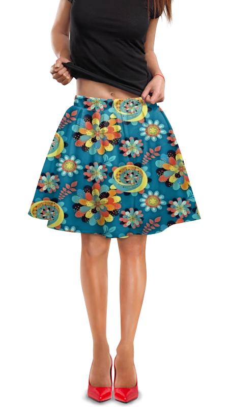 Юбка в складку Printio Цветы в красках юбка в складку printio шторм