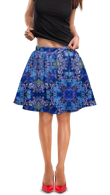 Юбка в складку Printio Красивый растительный цветочный орнамент, паттерн плакат a3 29 7x42 printio яркий красивый модный гелакси дизайн паттерн
