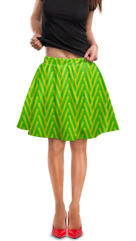 Юбка в складку Printio Желто-зеленый узор жучок zhorya желто зеленый