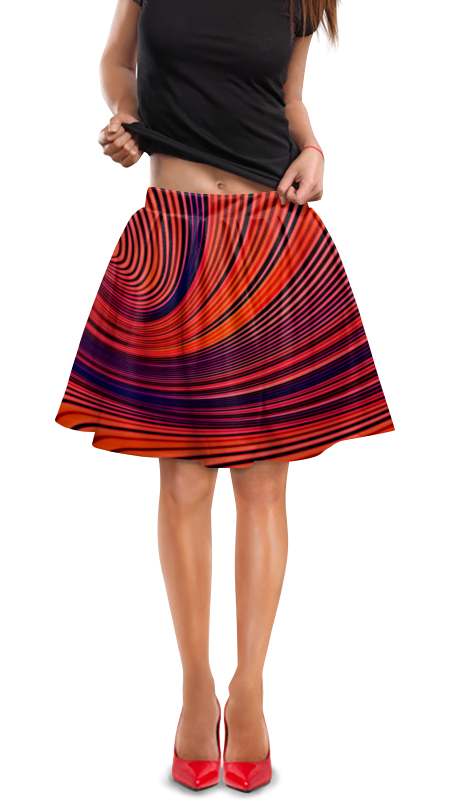 Юбка в складку Printio Цветные полосы юбка карандаш printio цветные полосы