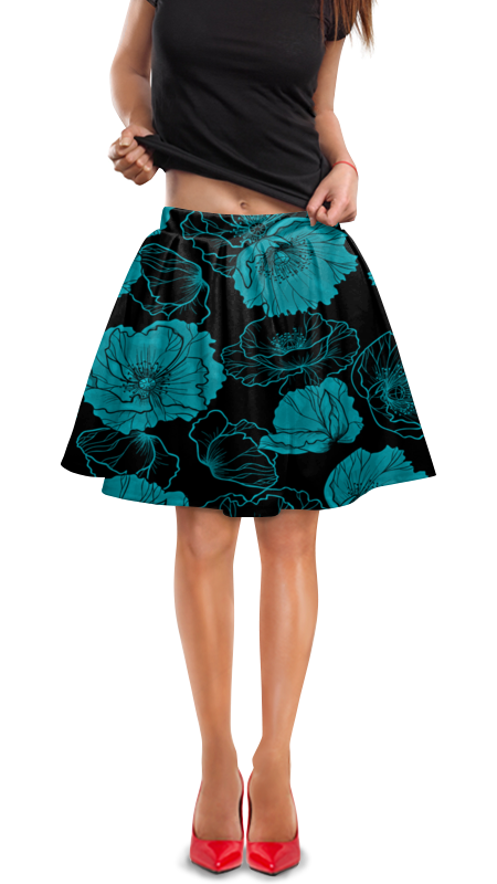 Юбка в складку Printio Цветочный юбка в складку printio химия