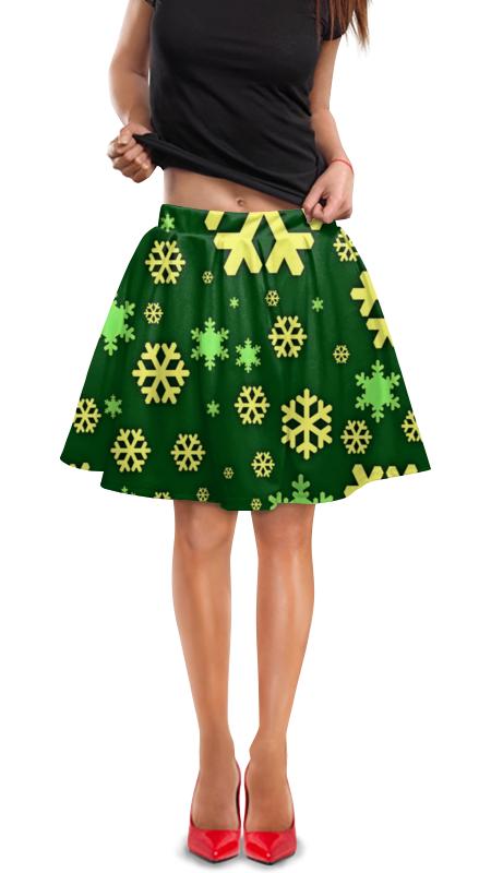 Юбка в складку Printio Снежинки юбка в складку printio собачки