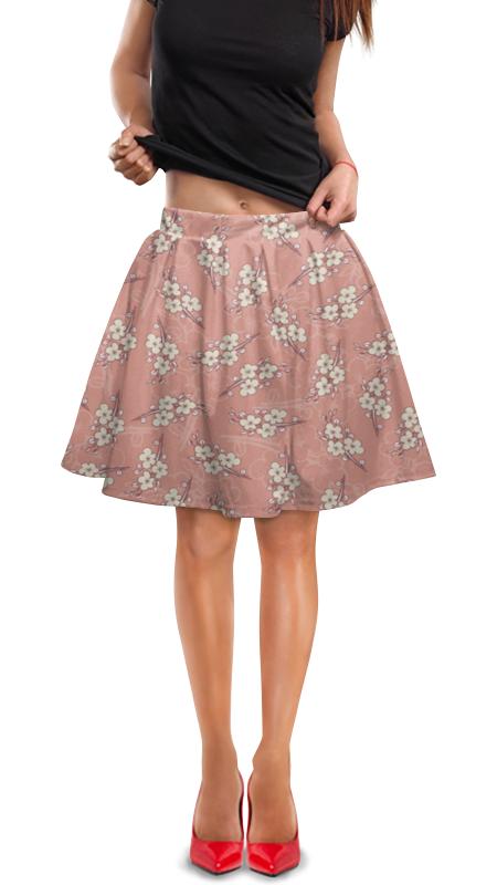 Юбка в складку Printio Цветочный юбка в складку printio игрушки на елке