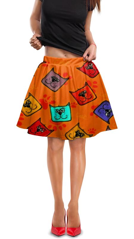 Юбка в складку Printio Котики юбка в складку printio модная