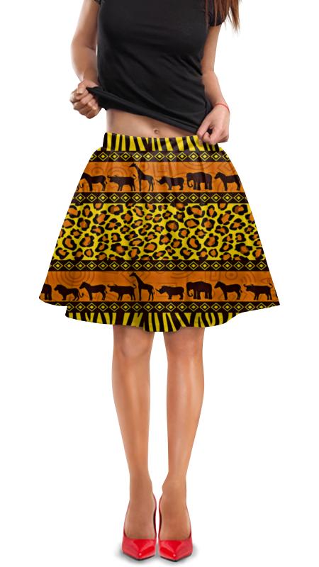 Юбка в складку Printio Африка