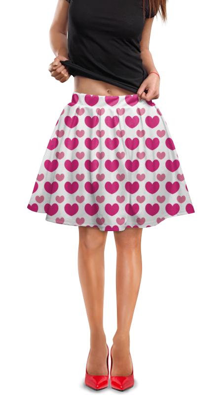 Юбка в складку Printio Розовые сердечки стул tetchair компьютерный розовые сердечки