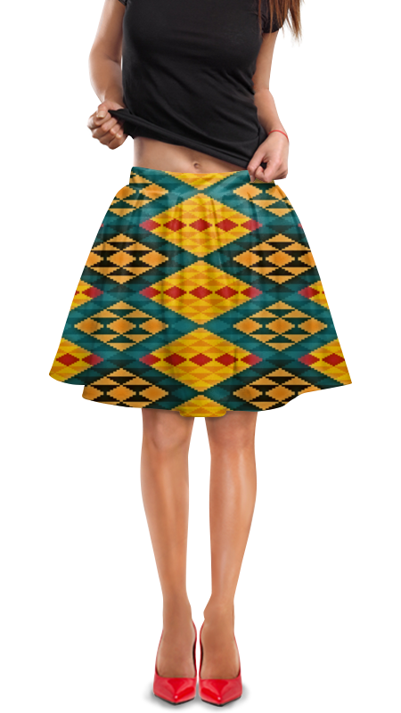 Юбка в складку Printio Орнамент юбка в складку printio модная