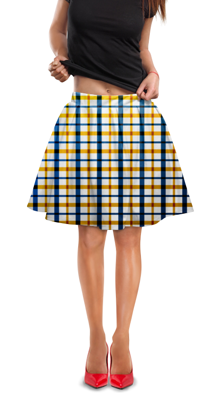 Юбка в складку Printio Клетка юбка в складку printio любимая юбка