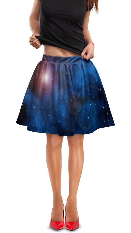 Юбка в складку Printio Вспышки в космосе юбка в складку printio шторм
