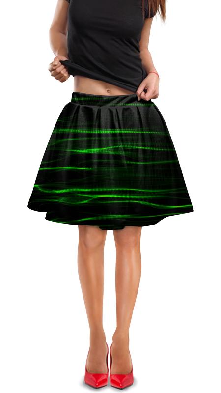 Юбка в складку Printio Зеленые линии юбка в складку printio зеленые линии