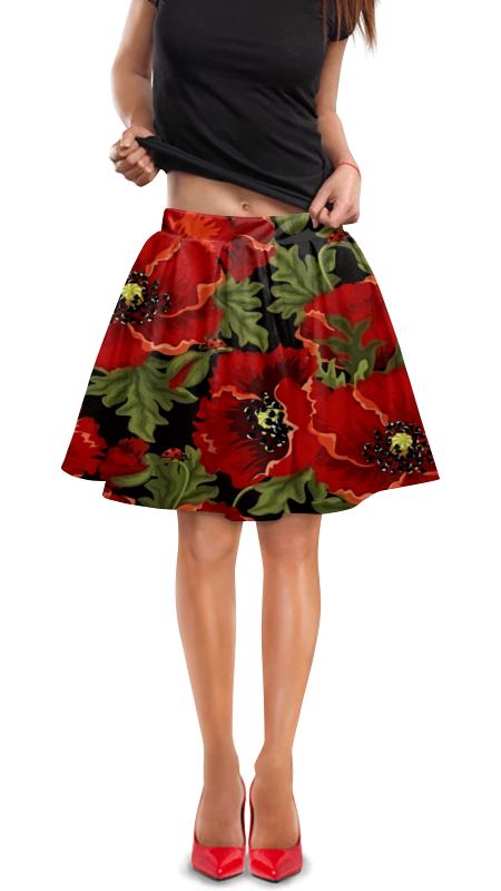Юбка в складку Printio Полевые маки юбка карандаш printio полевые маки