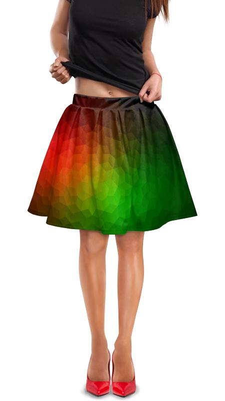 Юбка в складку Printio Цветная абстракция юбка в складку printio радужная абстракция