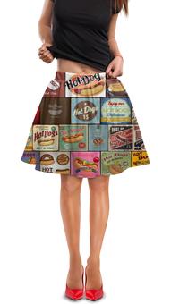 """Юбка в складку """"Hot Dog"""" - еда, реклама, hot dog"""