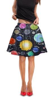 """Юбка в складку """"Планеты"""" - галактика, созвездия, звезды, космос, планеты"""