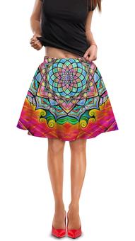 """Юбка в складку """"Mandala HD2"""" - узор, ретро, классика, этно, симметрия"""