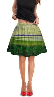 "Юбка в складку ""Прованс"" - цветы, природа, пейзаж, лаванда, прованс"