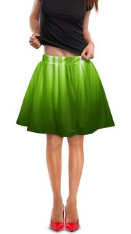 """Юбка в складку """"Зелёный фон"""" - зелёный, дизайн, графика, фон"""