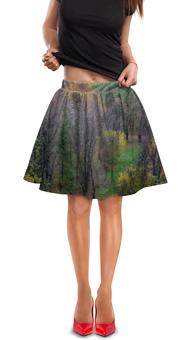 """Юбка в складку """"Цвет осени"""" - осень, деревья, природа, пейзаж"""