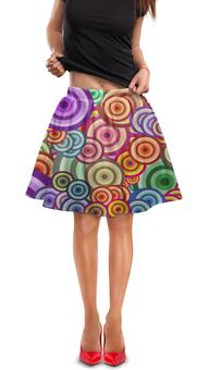 """Юбка в складку """"Цветные круги"""" - узор, стиль, круг, абстракция, орамент"""