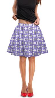 """Юбка в складку """"Фиалки"""" - арт, цветы, фиолетовый, мода, фиалка"""