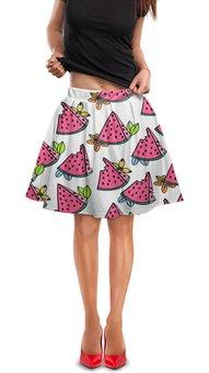 """Юбка в складку """"Арбуз"""" - еда, фрукты, ягоды, сладости, арбуз"""
