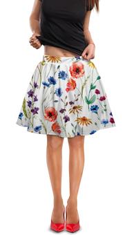 """Юбка в складку """"Полевые цветы"""" - красиво, цветы, природа, полевые цветы"""
