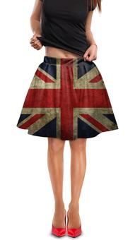 """Юбка в складку """"Флаг Великобритании"""" - страны, великобритания, флаг великобритании"""